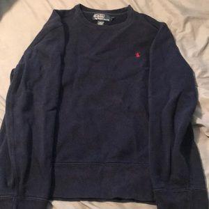 A Navy blue Ralph Lauren polo sweatshirt